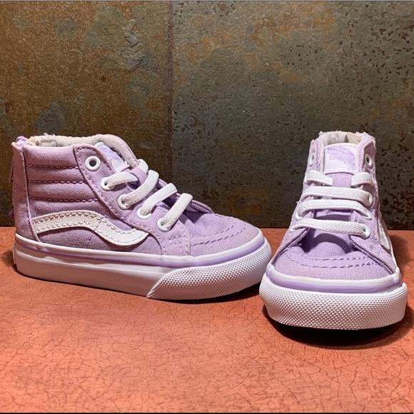 Vans SK8-Hi Zip Sneakers Size 5T
